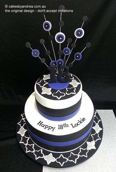18-birthday-cake-moroccan-motif-purple-black