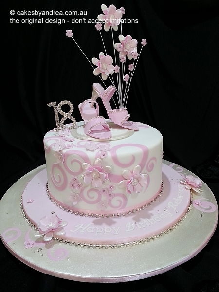18th-birthday-pink-white-swirls-shoes-flowers
