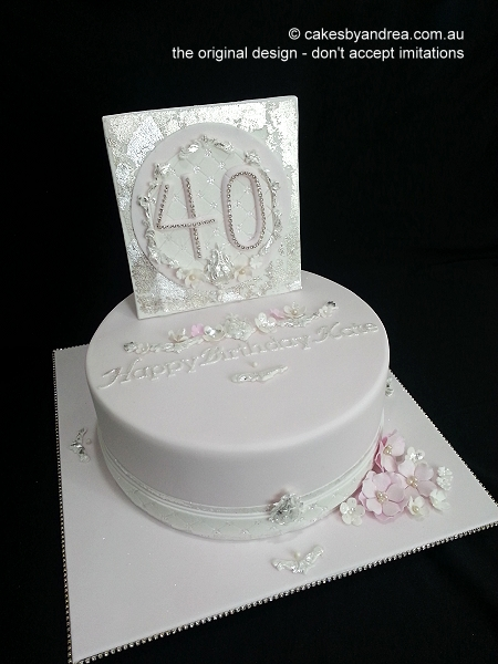 40th-birthday-cake-pale-pink-antiqued-age-plaque