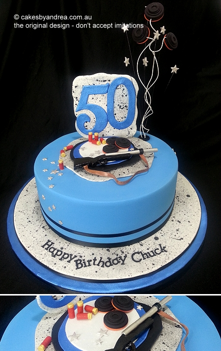 50th-birthday-cake-male-clay-target-gun-shoot