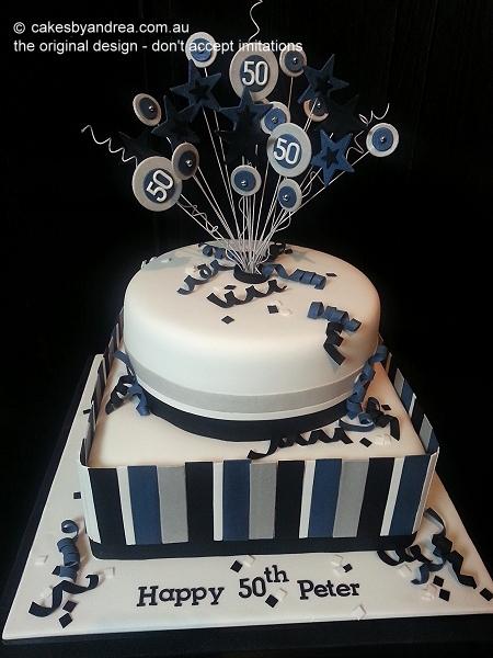 50th-birthday-male-blue-silver-stripes