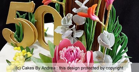 50th-birthday-native-flowers-wattle-kangaroo-paw