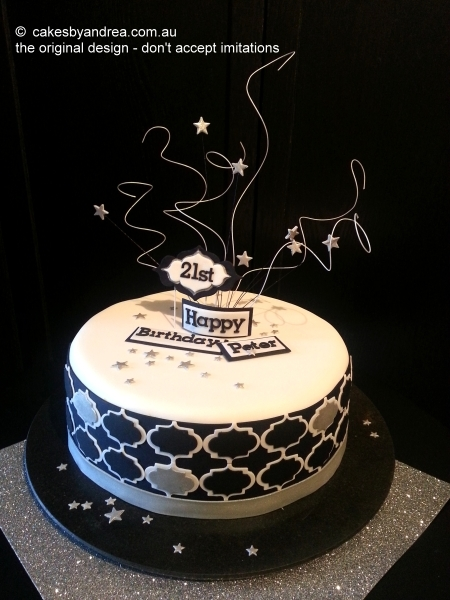 birthday-cake-moroccan-black-silver