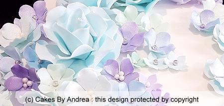 birthday-cake-white-fondant-blue-mint-purple-pastel-blossoms
