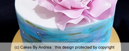 celebration-cake-brisbane-water-colour-pink-rose