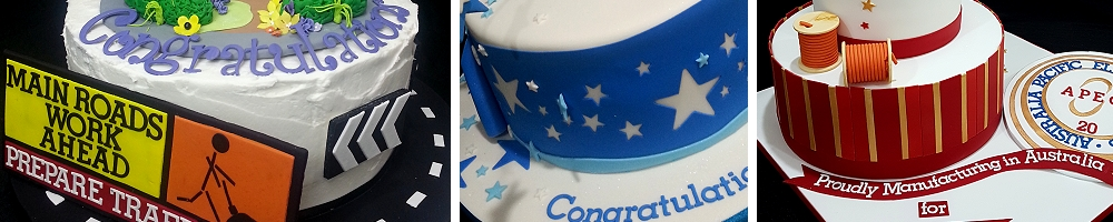 corporate cakes Brisbane and Gold Coast delivered