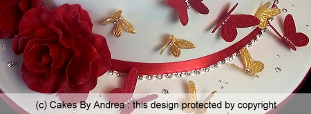 custom-21st-birthday-cake-red-roses-red-gold-butterflies-2-tier