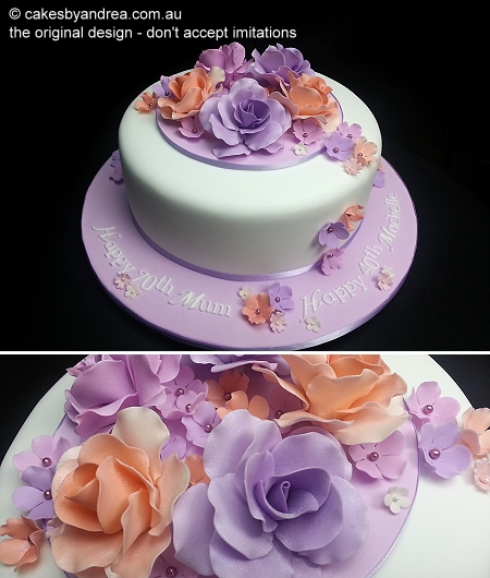 joint-birthday-cake-coral-lilac-roses
