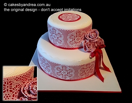 lace-red-2-tier-cake-roses