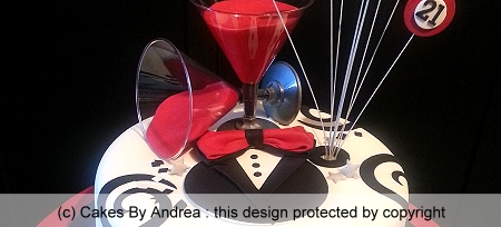 male-21st-birthday-cake-black-tuxedo-red-martini-glasses