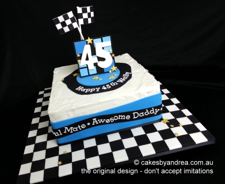 male-birthday-cake-chequered-flag-frosted-square