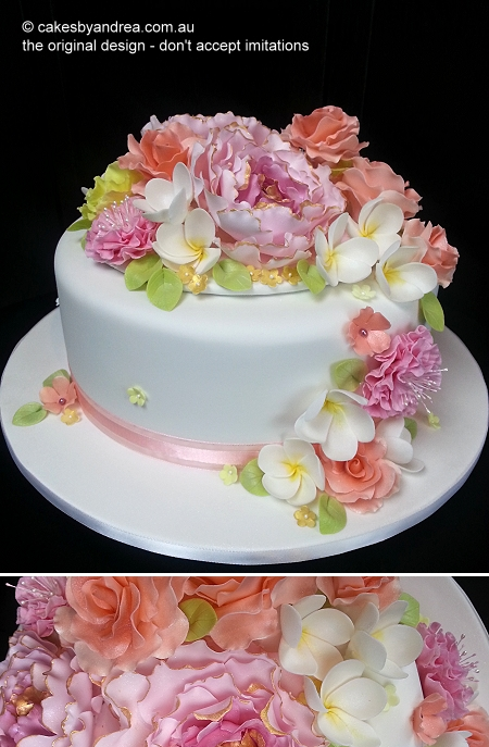 70th-birthday-cake-mixed-full-bouquet-on-white
