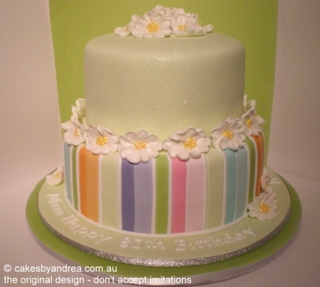 pale-green-stripes-birthday-cake