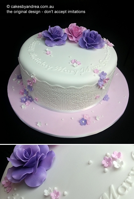 pink-purple-rose-trio-white-lace-birthday-cake