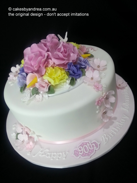 roses-lilies-carnation-birthday-cake