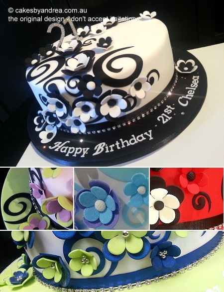 21st-birthday-cake-swirl-flower-colour-variations