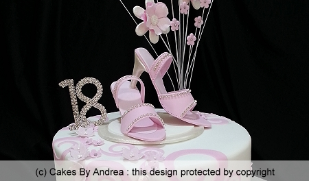 18th-birthday-cake-pink-high-heel-shoes-diamante-swirls