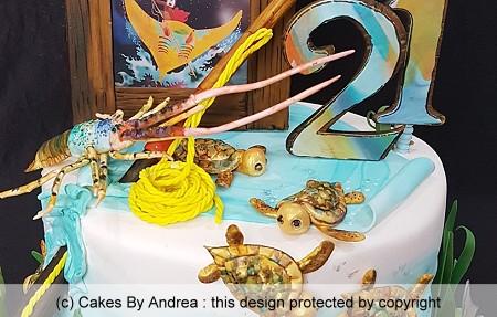 21st birthday cake indigenous island theme