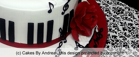 21st-birthday-cake-piano-keys-music-notes-red-rose