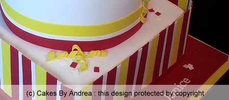 21st-birthday-cake-red-yellow-white-stripes-two-tier