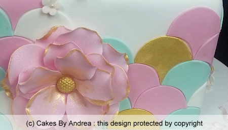 21st-birthday-cake-scalloped-disc-pastel-pink-flower