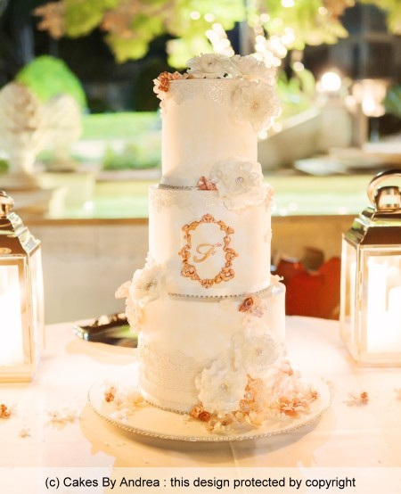 3-tier-tall-wedding-cake-rose-gold-lace-fantasy-flowers