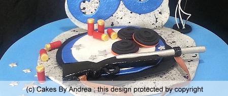 50th-birthday-cake-clay-pigeon-shoot-targets-gun