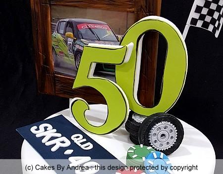 50th birtdhay cake male motorsport casino