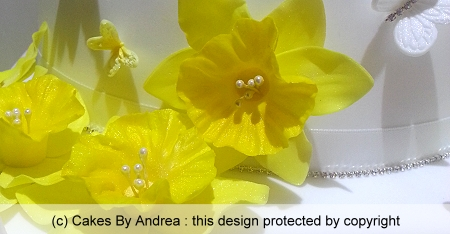 50th-birthday-cake-yellow-daffodils-butterflies-custom-hearts