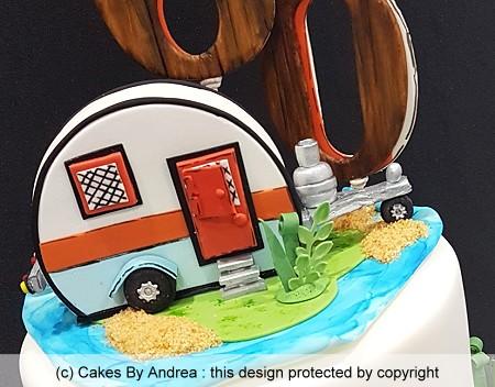 60th birthday cake caravan travel
