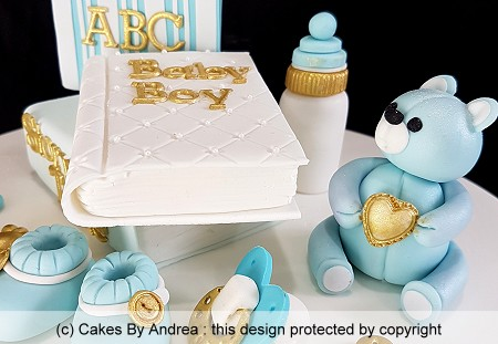 baby-boy-christening-cake-bear-bottle-books-booties