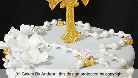 baptism-cake-lilac-fondant-rosary-beads-gold-cross-blossoms