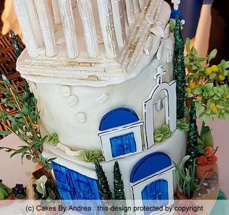 greek theme birthday cake parthenon lemon tree
