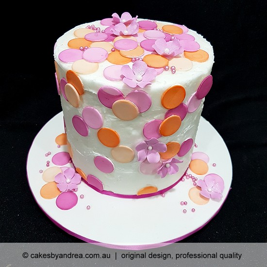 budget birthday cake mothers day cake celebration cake coral pink spots