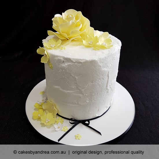 budget birthday cake mothers day celebration cake yellow rose blossoms