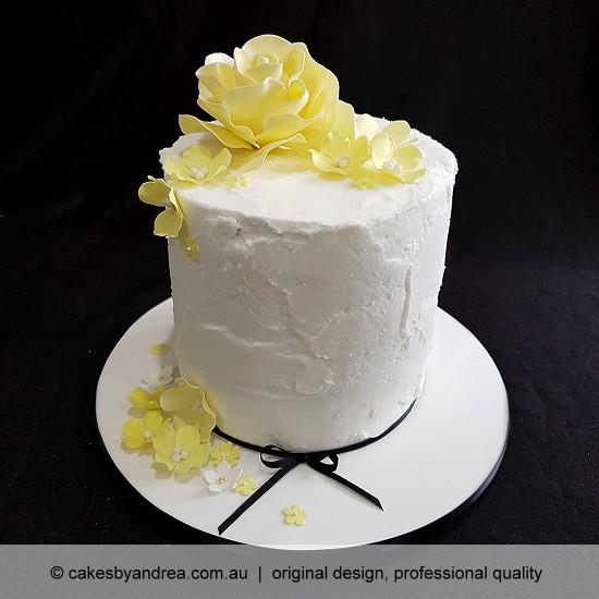 budget birthday cake mothers day celebration cake yellow rose blossoms