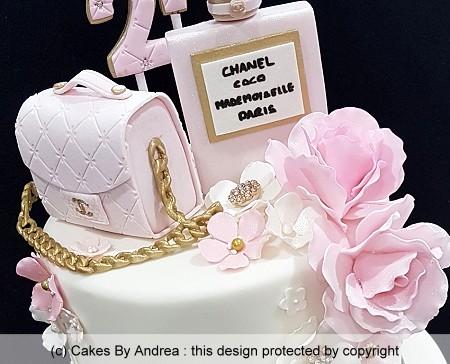 coco chanel 21st birthday cake