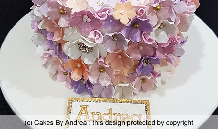 floral birtdhay cake pastel flowers cashous centres