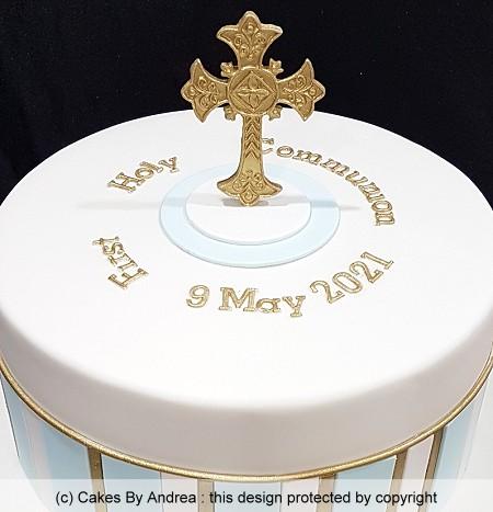 holy communion cake cross christening