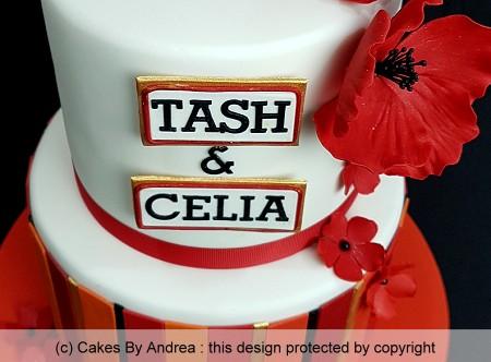 50th birthday cake red poppy's