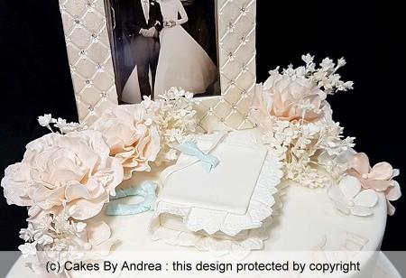 wedding anniversary cake photo hymn book